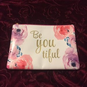 "⭐️ ""Be You Tiful"" Clutch/Makeup Pouch"